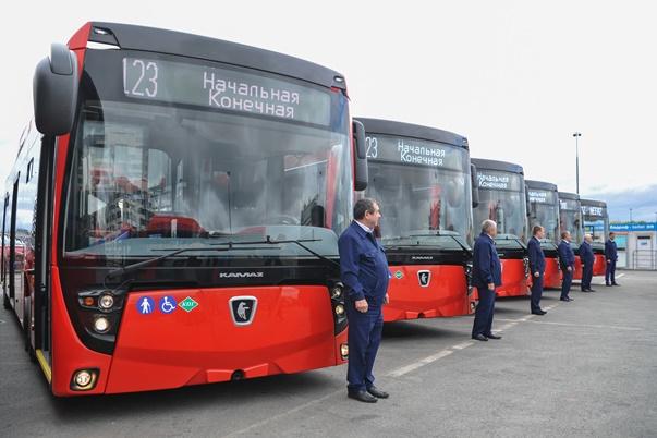 Новые автобусы. Фото: tatarstan.ru