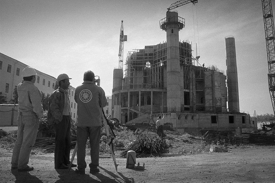 Строительство мечети Кул-Шариф, 1998 год. Фото: Евгений Канаев