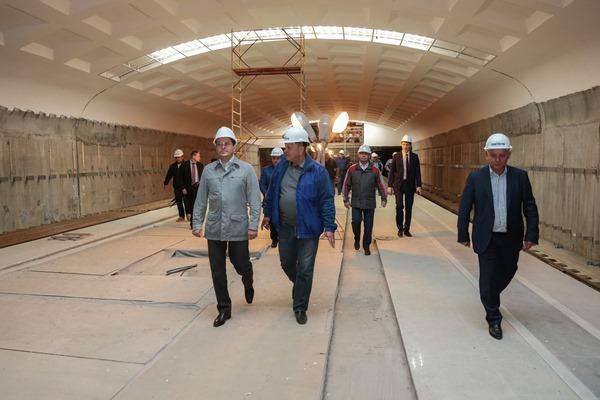 Мэр Казани проинспектировал ход возведения станции метро «Дубравная»