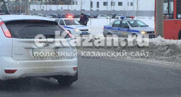 Два автобуса спассажирами столкнулись вКазани, есть раненые