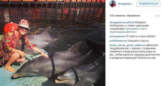 Дина Гарипова поделилась всоц.сети своим фото сосвадебного путешествия