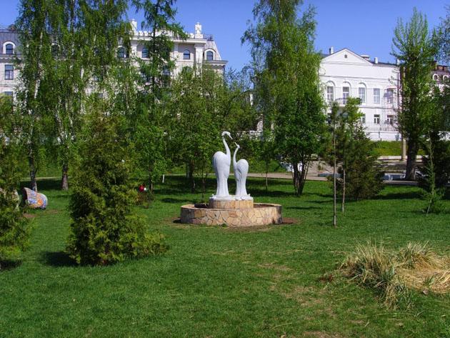 Цапли в парке. Фото: kazanecc.ru