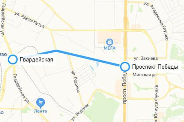 Схема первого участка: e-Kazan.ru/«Яндекс.Карты»