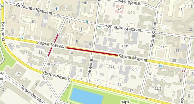 Улицы столичная иЯхина будут закрыты