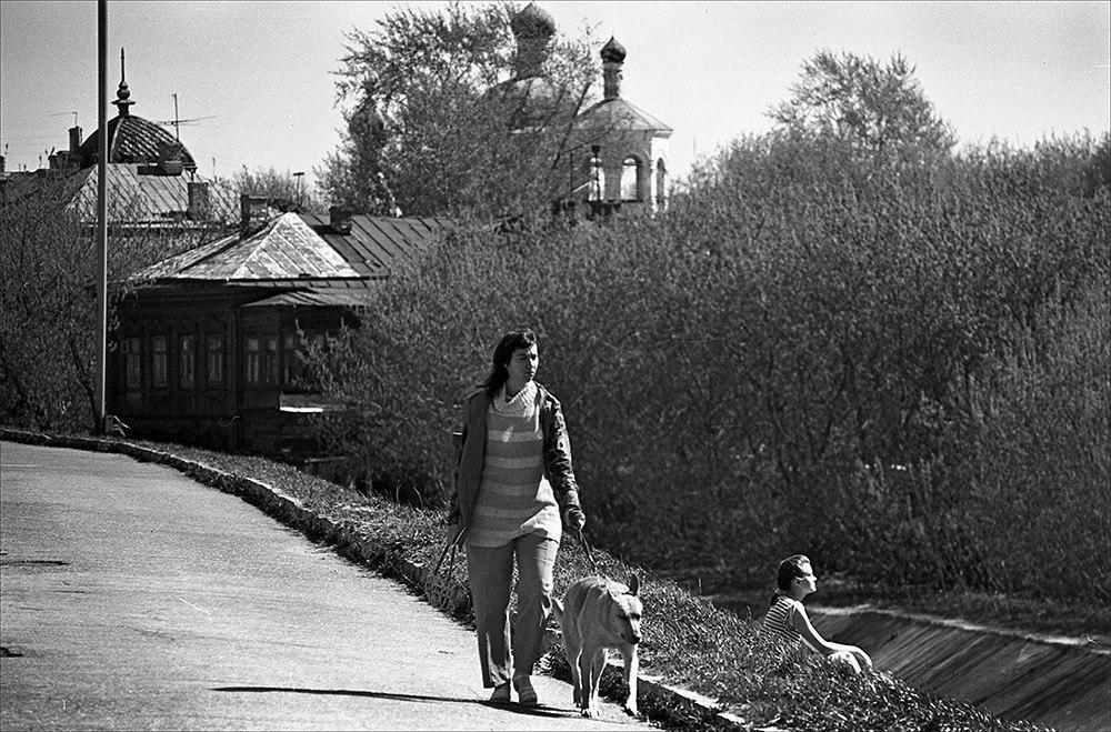 Набережная Казанки, недалеко от НКЦ, 1991 год. Фото: Евгений Канаев