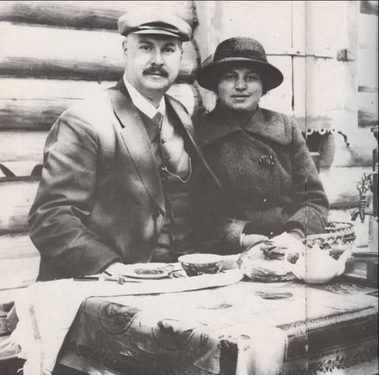 1915. Бренинг с женой Ольгой Федоровной. Фото: Арнольд Бренинг