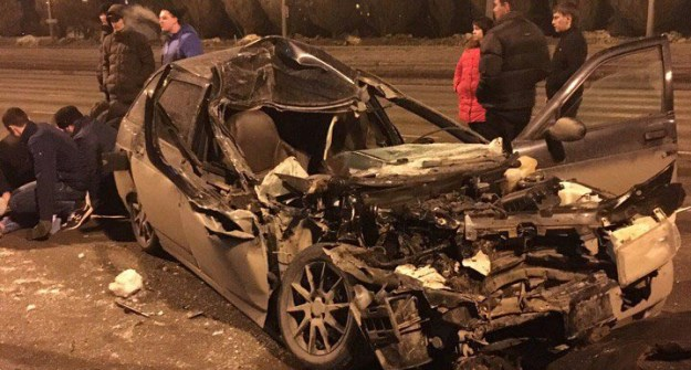 ВКазани ночью случилось серьезное ДТП, имеется пострадавший