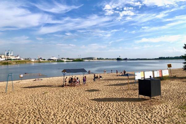 Пляж «Нижнее Заречье». Фото: e-Kazan.ru