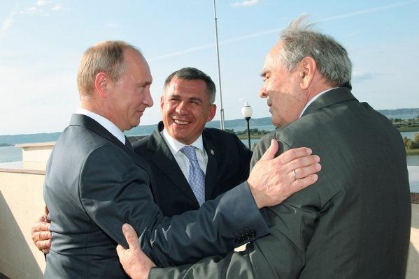 Путин, Минниханов и Шаймиев во время одной из встреч. Фото: livejournal.com
