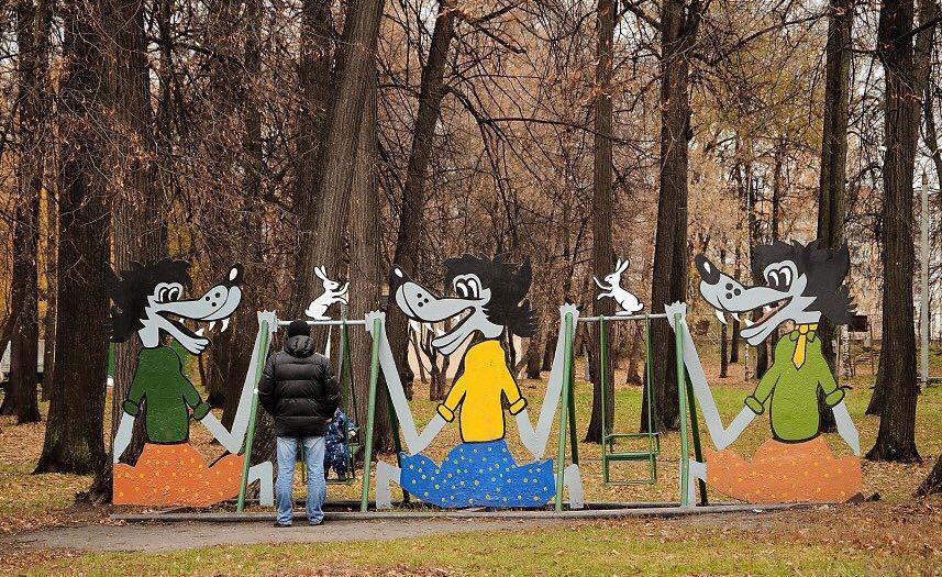 Знаменитые старые качели. 2013 год. Фото: kazan.ru