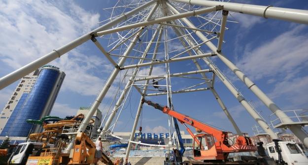 Новое колесо обозрения вКазани будет вторым повеличине в Российской Федерации